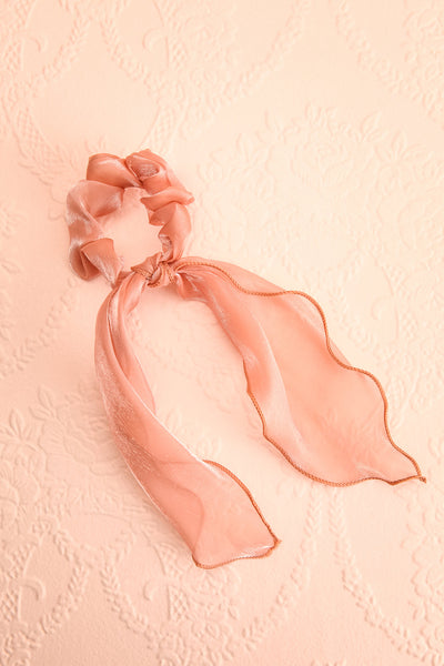 Antlia 3-Pack Satin Mesh Hair Scrunchie w/ Bow | Boutique 1861 pink