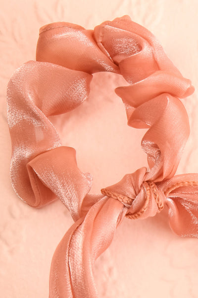 Antlia 3-Pack Satin Mesh Hair Scrunchie w/ Bow | Boutique 1861 close-up