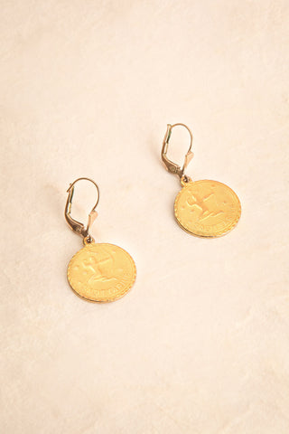 Antonia Spinetti ~ Vintage Metallic Pendant Earrings | Boudoir 1861