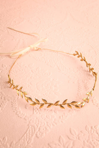 Apata Gold Leaves Headband | Boudoir 1861 6