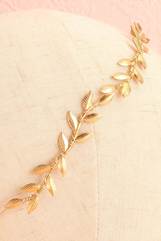 Apata Gold Leaves Headband | Boudoir 1861 3