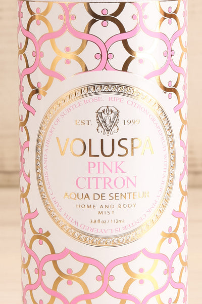 Aqua de Senteur Pink Citron Mist | Voluspa | La petite garçonne box close-up