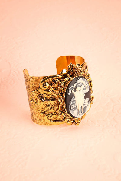 Arbousier Antique Gold Cameo Bangle Bracelet | Boudoir 1861 3