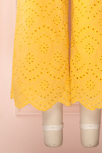 Ardfesh Yellow Embroidered Openwork Jumpsuit | Boutique 1861 bottom