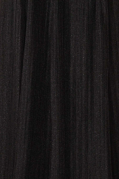 Arnemande Black Glitter Gown | Robe Maxi | Boutique 1861 fabric detail