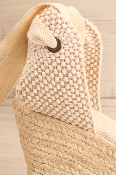 Arnissa Beige Rope Soled Summer Wedges | La petite garçonne side close-up