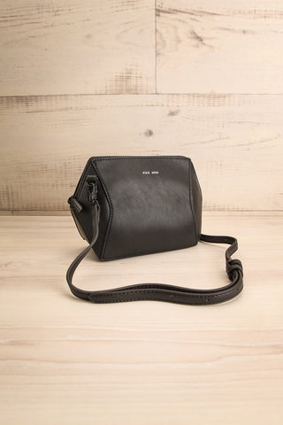 Ashton Black Faux-Leather Pixie Mood Handbag side view | La Petite Garçonne