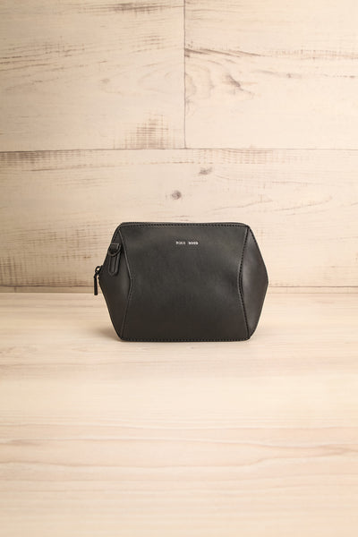 Ashton Black Faux-Leather Pixie Mood Handbag front view | La Petite Garçonne
