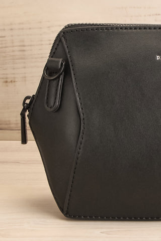Ashton Black Faux-Leather Pixie Mood Handbag close-up | La Petite Garçonne