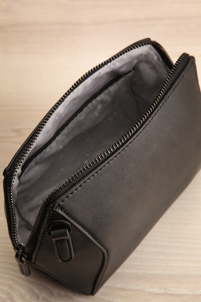 Ashton Black Faux-Leather Pixie Mood Handbag inside view | La Petite Garçonne