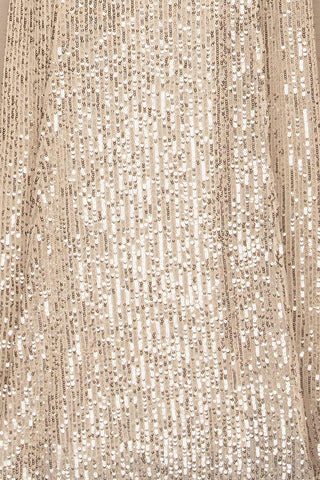 Askim Opal Cream Sequin Mermaid Dress fabric close up | La Petite Garçonne