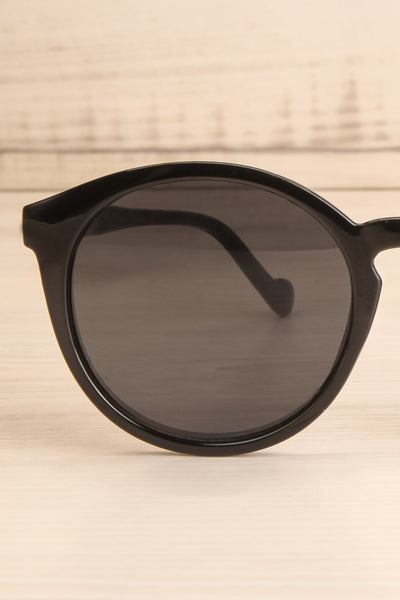 Athlone Black Wayfarer Sunglasses close-up | La Petite Garçonne