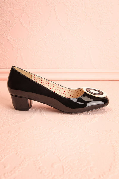 Aubriot Noir Black Patent 60s Inspired Heels | Boutique 1861 6