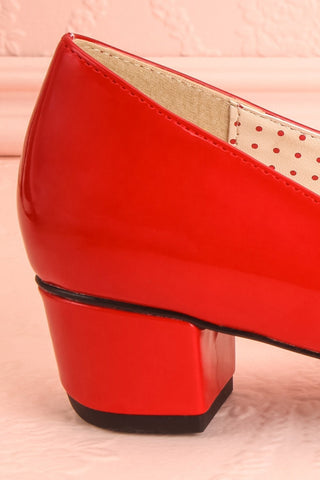 Aubriot Rouge Red Patent 60s Inspired Heels | Boutique 1861 7