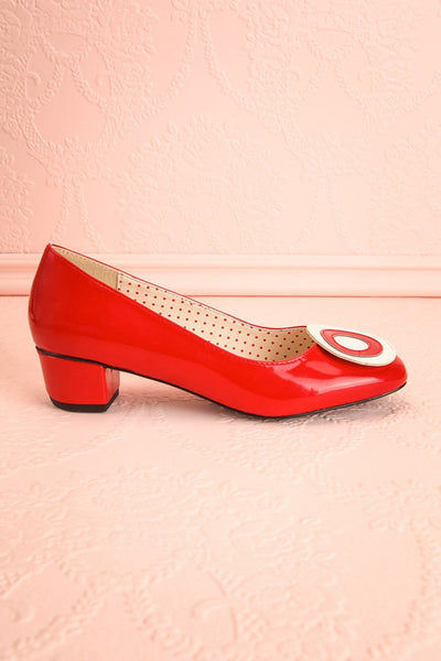 Aubriot Rouge Red Patent 60s Inspired Heels | Boutique 1861 6