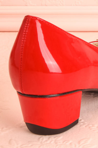 Aubriot Rouge Red Patent 60s Inspired Heels | Boutique 1861 10