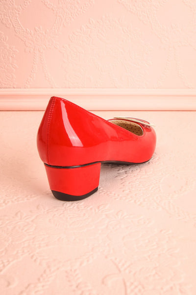 Aubriot Rouge Red Patent 60s Inspired Heels | Boutique 1861 9