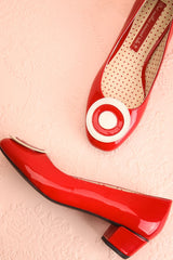 Aubriot Rouge Red Patent 60s Inspired Heels | Boutique 1861