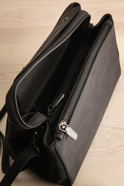 Audrina Black Faux-Leather Pixie Mood Handbag inside view | La Petite Garçonne