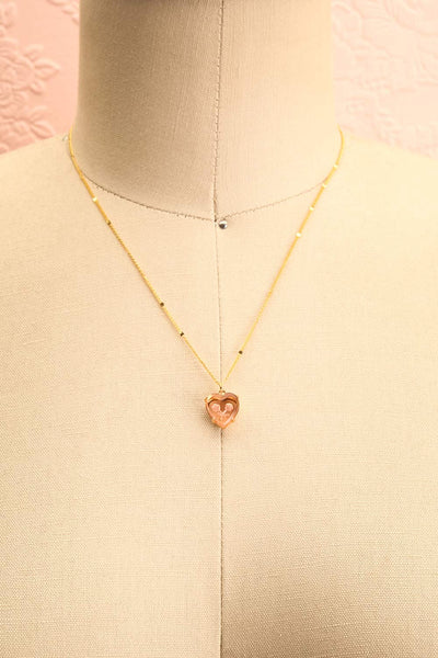 Autumn Aris Gold & Pink Pendant Necklace | Boutique 1861