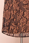 Avanti Black & Beige Floral Lace Dress | Boutique 1861 bottom