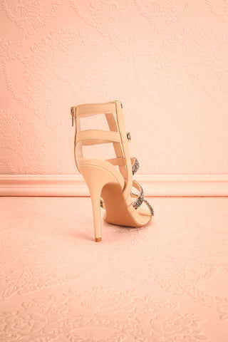 Avarua - Beige and Grey Heeled Sandals - Boutique 1861 7