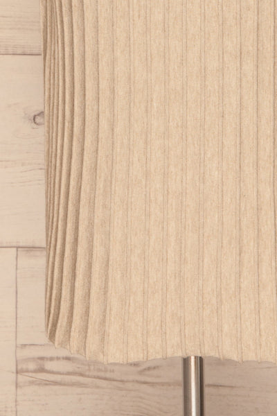 Aveiro Beige Knit Skirt | Jupe Beige | La Petite Garçonne bottom close-up