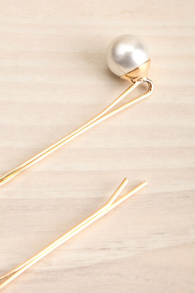 Avis Gros Set of Golden Hair Pins with Pearls | La Petite Garçonne 2