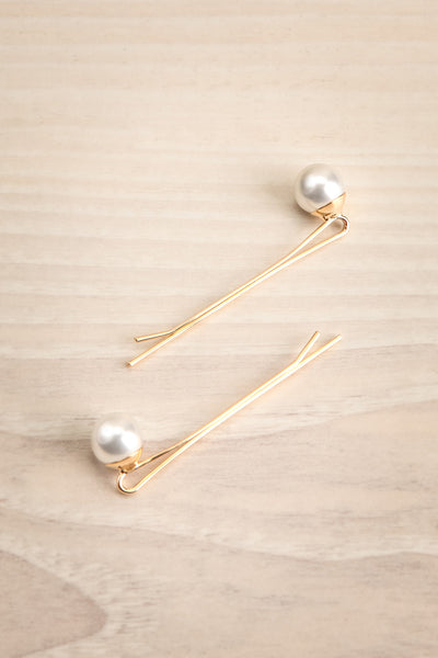 Avis Gros Set of Golden Hair Pins with Pearls | La Petite Garçonne 1