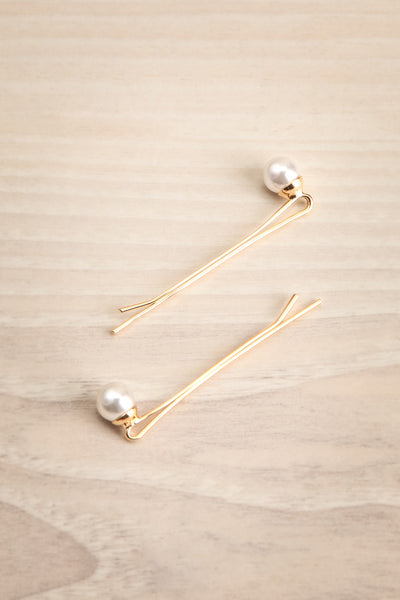 Avis Petit Set of Golden Hair Pins with Pearls | La Petite Garçonne 1