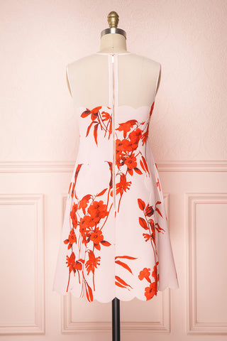 Awala Pink & Red Floral Ted Baker Cocktail Dress | Boutique 1861 5