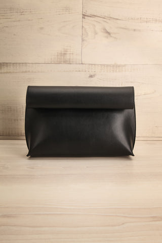 Ayios Black Roll Clutch Crossbody Bag | La Petite Garçonne