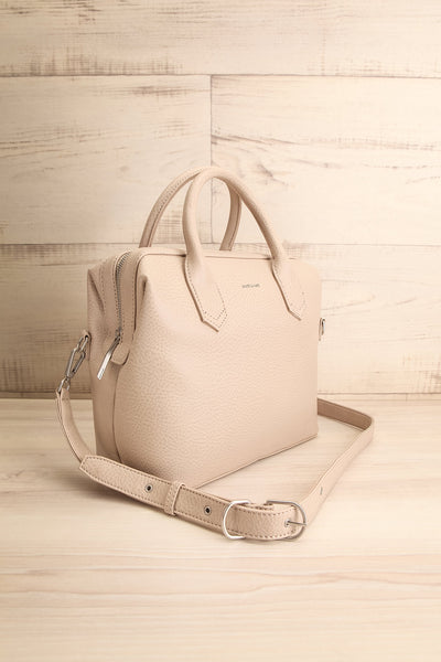 Baiga Dark Grey Beige Matt & Nat Handbag | La petite garçonne side view