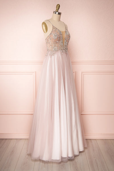Baillif Lilac Tulle A-Line Gown with Crystals | Boutique 1861 3