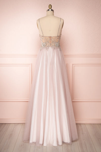 Baillif Lilac Tulle A-Line Gown with Crystals | Boutique 1861 5