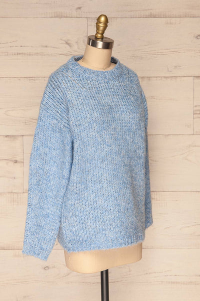 Balchik Blue Knit Sweater | La Petite Garçonne side view