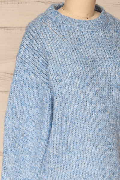 Balchik Blue Knit Sweater | La Petite Garçonne side close-up