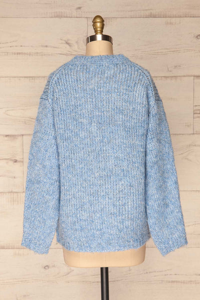 Balchik Blue Knit Sweater | La Petite Garçonne back view