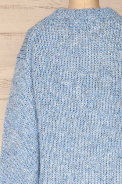 Balchik Blue Knit Sweater | La Petite Garçonne back close-up