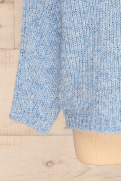Balchik Blue Knit Sweater | La Petite Garçonne bottom close-up