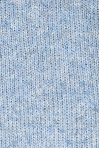 Balchik Blue Knit Sweater | La Petite Garçonne fabric detail
