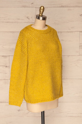 Balchik Yellow Knit Sweater | La Petite Garçonne side view