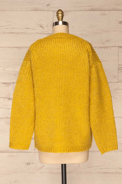 Balchik Yellow Knit Sweater | La Petite Garçonne back view