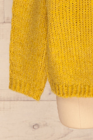 Balchik Yellow Knit Sweater | La Petite Garçonne bottom close-up