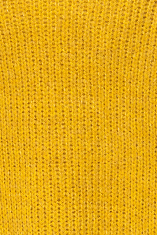 Balchik Yellow Knit Sweater | La Petite Garçonne fabric detail