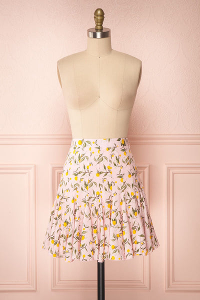Balsadiero Pink Lemon Print Frills Short Skirt | Boutique 1861