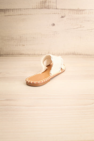 Basingstoke Beige Woven Slip-On Sandals | La petite garçonne back view