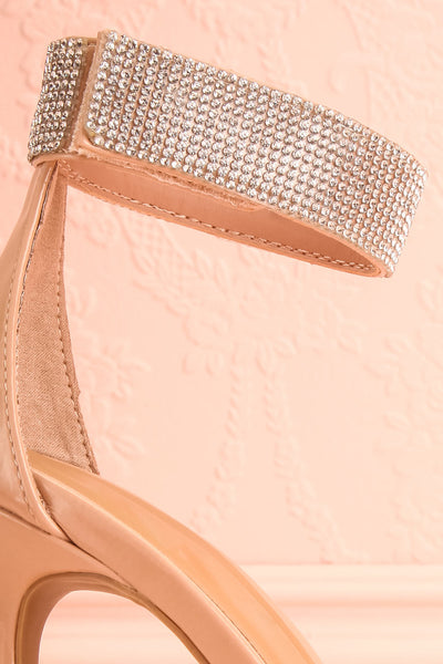 Bassompierre High Heeled Sandals | Sandales | Boutique 1861 side close-up