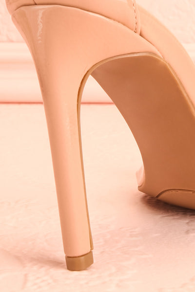 Bassompierre High Heeled Sandals | Sandales | Boutique 1861 back heel close-up