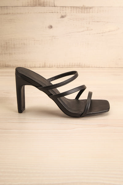 Baudoyer Black Heeled Sandals | La petite garçonne side view
